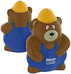 Construction Worker Bear Stress Balls
